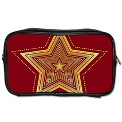 Christmas Star Seamless Pattern Toiletries Bags 2 Side by BangZart