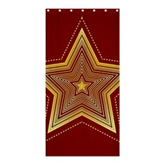 Christmas Star Seamless Pattern Shower Curtain 36  X 72  (stall)  by BangZart