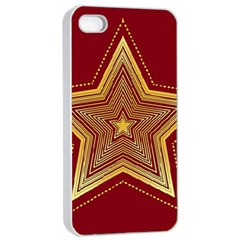 Christmas Star Seamless Pattern Apple Iphone 4/4s Seamless Case (white) by BangZart