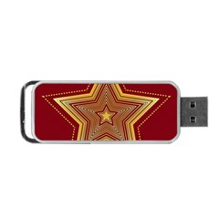 Christmas Star Seamless Pattern Portable Usb Flash (two Sides) by BangZart