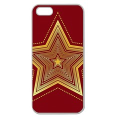 Christmas Star Seamless Pattern Apple Seamless Iphone 5 Case (clear)