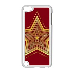 Christmas Star Seamless Pattern Apple Ipod Touch 5 Case (white) by BangZart