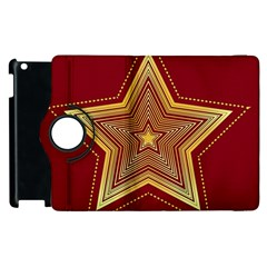Christmas Star Seamless Pattern Apple Ipad 2 Flip 360 Case by BangZart