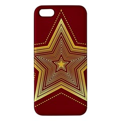 Christmas Star Seamless Pattern Apple Iphone 5 Premium Hardshell Case by BangZart
