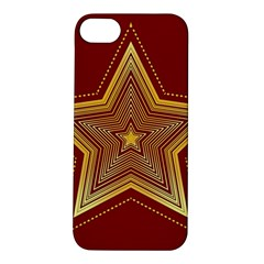 Christmas Star Seamless Pattern Apple Iphone 5s/ Se Hardshell Case by BangZart