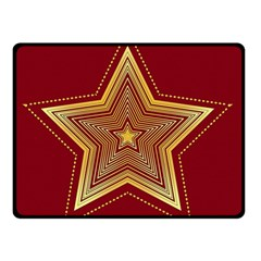 Christmas Star Seamless Pattern Double Sided Fleece Blanket (small)