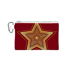 Christmas Star Seamless Pattern Canvas Cosmetic Bag (s) by BangZart