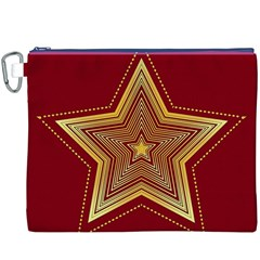 Christmas Star Seamless Pattern Canvas Cosmetic Bag (xxxl) by BangZart