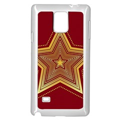 Christmas Star Seamless Pattern Samsung Galaxy Note 4 Case (white) by BangZart