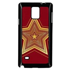 Christmas Star Seamless Pattern Samsung Galaxy Note 4 Case (black)