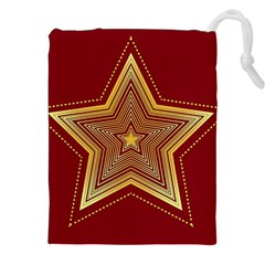 Christmas Star Seamless Pattern Drawstring Pouches (xxl) by BangZart