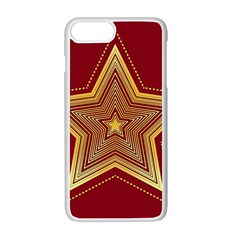 Christmas Star Seamless Pattern Apple Iphone 7 Plus White Seamless Case by BangZart