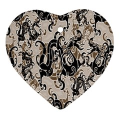 Dragon Pattern Background Ornament (heart)