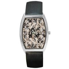 Dragon Pattern Background Barrel Style Metal Watch by BangZart