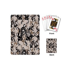 Dragon Pattern Background Playing Cards (mini)