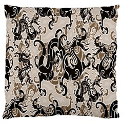 Dragon Pattern Background Large Cushion Case (two Sides)