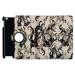 Dragon Pattern Background Apple Ipad 3/4 Flip 360 Case by BangZart