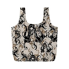 Dragon Pattern Background Full Print Recycle Bags (m)