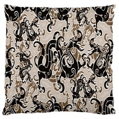 Dragon Pattern Background Large Flano Cushion Case (two Sides) by BangZart