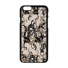 Dragon Pattern Background Apple Iphone 6/6s Black Enamel Case by BangZart