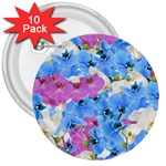 Tulips Floral Pattern 3  Buttons (10 pack)