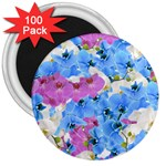 Tulips Floral Pattern 3  Magnets (100 pack)