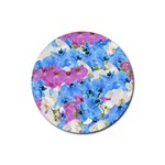Tulips Floral Pattern Rubber Coaster (Round)