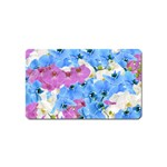 Tulips Floral Pattern Magnet (Name Card)