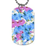 Tulips Floral Pattern Dog Tag (Two Sides)