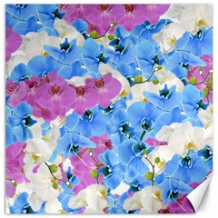 Tulips Floral Pattern Canvas 20  X 20