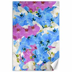 Tulips Floral Pattern Canvas 24  X 36  by paulaoliveiradesign