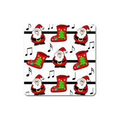 Christmas Song Square Magnet by Valentinaart