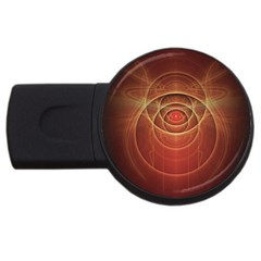 The Rusty Red Fractal Scarab Of Fiery Old Man Ra Usb Flash Drive Round (4 Gb) by jayaprime