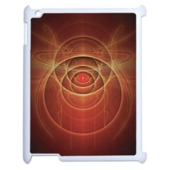 The Rusty Red Fractal Scarab Of Fiery Old Man Ra Apple Ipad 2 Case (white) by beautifulfractals