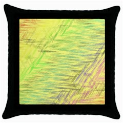 Paint On A Yellow Background                        Throw Pillow Case (black) by LalyLauraFLM