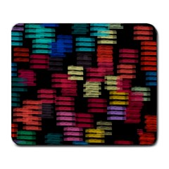 Colorful Horizontal Paint Strokes                         Large Mousepad by LalyLauraFLM