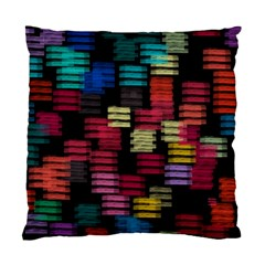 Colorful Horizontal Paint Strokes                   Standard Cushion Case (two Sides) by LalyLauraFLM