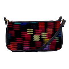 Colorful Horizontal Paint Strokes                         Shoulder Clutch Bag by LalyLauraFLM