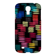 Colorful Horizontal Paint Strokes                   Apple Ipad 3/4 Woven Pattern Leather Folio Case by LalyLauraFLM