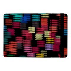 Colorful Horizontal Paint Strokes                   Samsung Galaxy Tab Pro 8 4  Flip Case by LalyLauraFLM