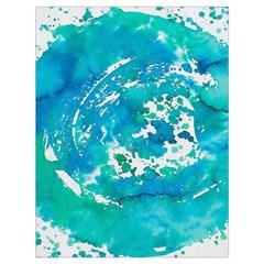 Blue Watercolors Circle                          Large Drawstring Bag by LalyLauraFLM