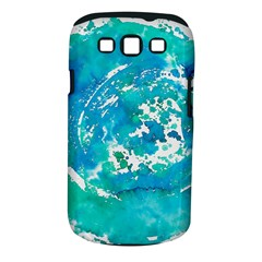 Blue Watercolors Circle                    Samsung Galaxy S Ii I9100 Hardshell Case (pc+silicone) by LalyLauraFLM