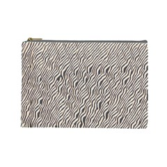 Zebra Pattern Animal Print Cosmetic Bag (large)  by paulaoliveiradesign