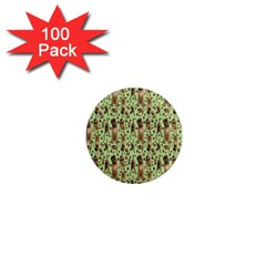 Puppy Dog Pattern 1  Mini Magnets (100 Pack)