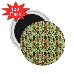 Puppy Dog Pattern 2 25  Magnets (100 Pack)