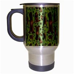 Puppy Dog Pattern Travel Mug (silver Gray)