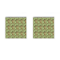 Puppy Dog Pattern Cufflinks (square) by BangZart