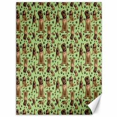 Puppy Dog Pattern Canvas 36  X 48