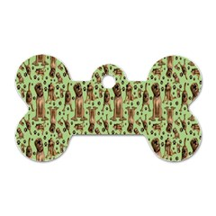 Puppy Dog Pattern Dog Tag Bone (two Sides) by BangZart