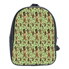 Puppy Dog Pattern School Bags(large)  by BangZart